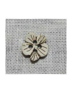 Bouton Coco - Fleur 15 mm