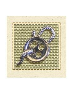Charm argenté - Bouton Couture