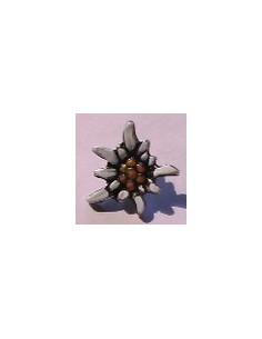 Bouton Edelweiss blanche 20 mm
