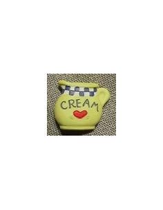 Bouton - Pot de crème