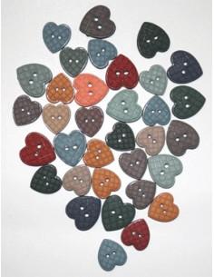Lot de boutons Dress It Up - Patchwork Hearts
