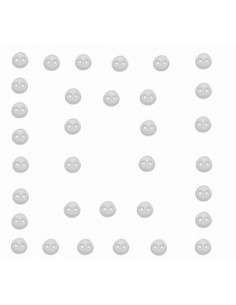 Lot de boutons Dress It Up - Micro Mini Round White