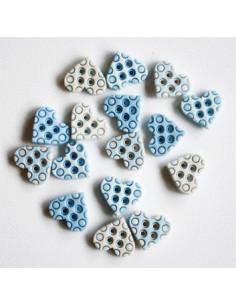 Lot de boutons Dress It Up - Tiny Geos Baby Boy Hearts