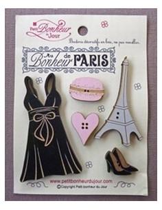 Lot de boutons en bois - Au Bonheur de Paris - bois divers