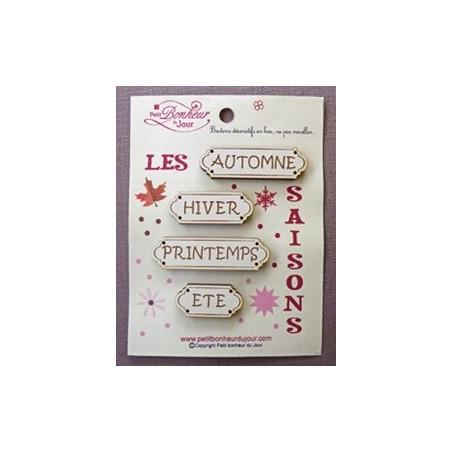 """Boutons en bois """"Petit Bonheur du Jour"""""""