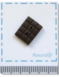 Bouton en Pâte Polymère - Chocolat noir