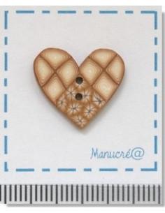 Bouton en Pâte Polymère - Coeur N.42