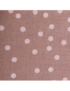 Graziano - Toile de lin 13 fils/cm nature à pois blanc