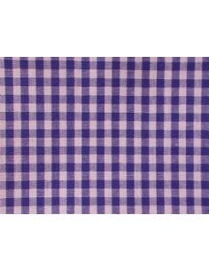 Tissu vichy bleu - carreaux de 4 mm