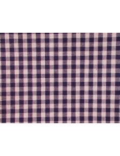 Tissu vichy bleu foncé - carreaux de 4 mm