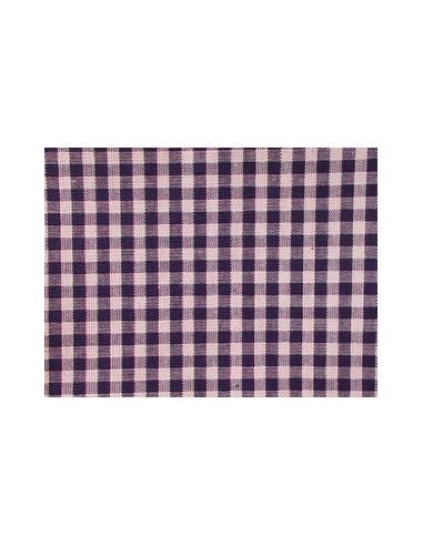 tissu vichy bleu fonc carreaux de 4 mm broderie passion. Black Bedroom Furniture Sets. Home Design Ideas