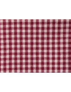 Tissu vichy bordeaux - carreaux de 4 mm