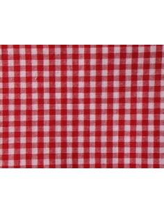 Tissu vichy rouge - carreaux de 4 mm