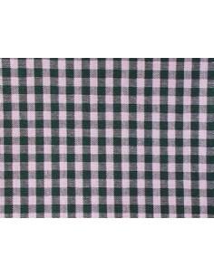 Tissu vichy vert foncé - carreaux de 4 mm
