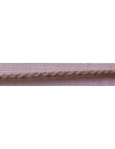 Cordon tresse lin nature 3.5 mm, col45