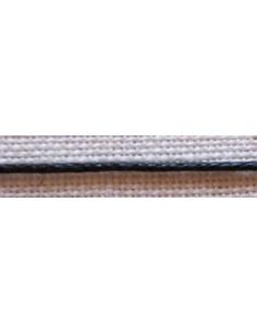 Cordelette aspect cuir 1mm - noir