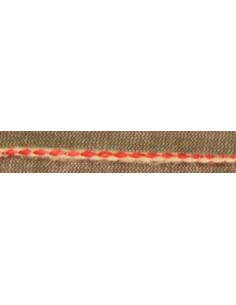 Corde de lin col rouge-nature