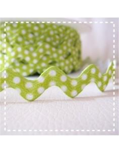 Croquet à pois - vert - 11 mm