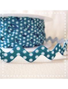 Croquet à pois - bleu turquoise foncé - 11 mm