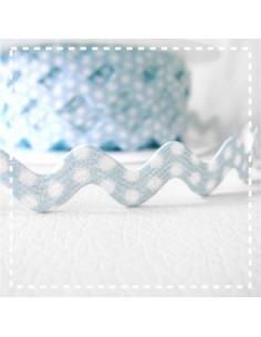 Croquet à pois - bleu clair - 11 mm