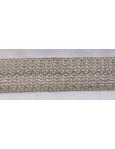 Galon pour bordure imitation lin 26 mm - à plier en 2