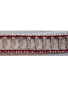 Galon Entre-deux en coton nature et medoc, 16 mm