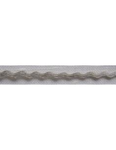 Galon croquet de lin nature, 5 mm