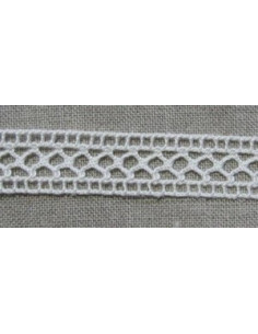 Dentelle de coton entre-deux - crème - 25 mm