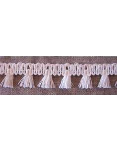 Galon de lin à franges - écru 20 mm