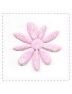 Fleur en tissu et feutrine - rose