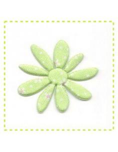 Fleur en tissu et feutrine - vert