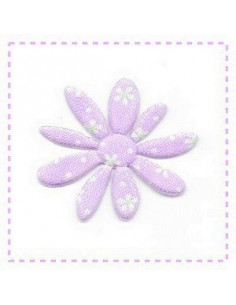 Fleur en tissu et feutrine - mauve