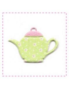 Tasse en tissu et feutrine - vert et rose
