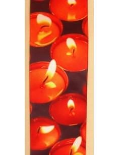 Ruban déco bougies oranges