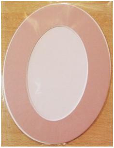 Passe-partouts avec fond - Ovale rose