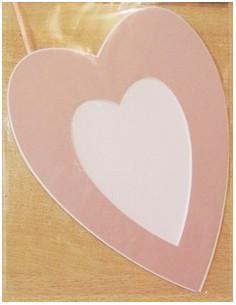 Passe-partouts avec fond - coeur rose