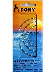 PONY - 3 aiguilles à matelas courbes