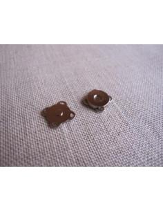 Bouton/fermoir magnétique à coudre - argenté - 10 mm