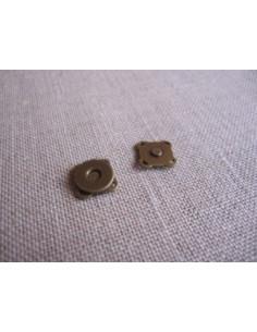 Bouton/fermoir magnétique à coudre - bronze - 10 mm