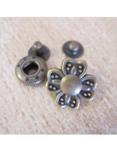 Bouton pression - Fleur - 17 mm